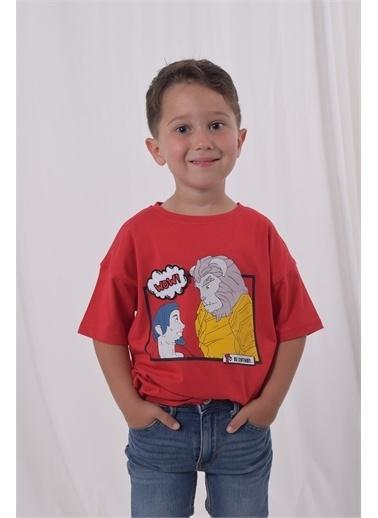 iandb Kırmızı Baskılı Erkek Çocuk T-shirt Akaros Kırmızı